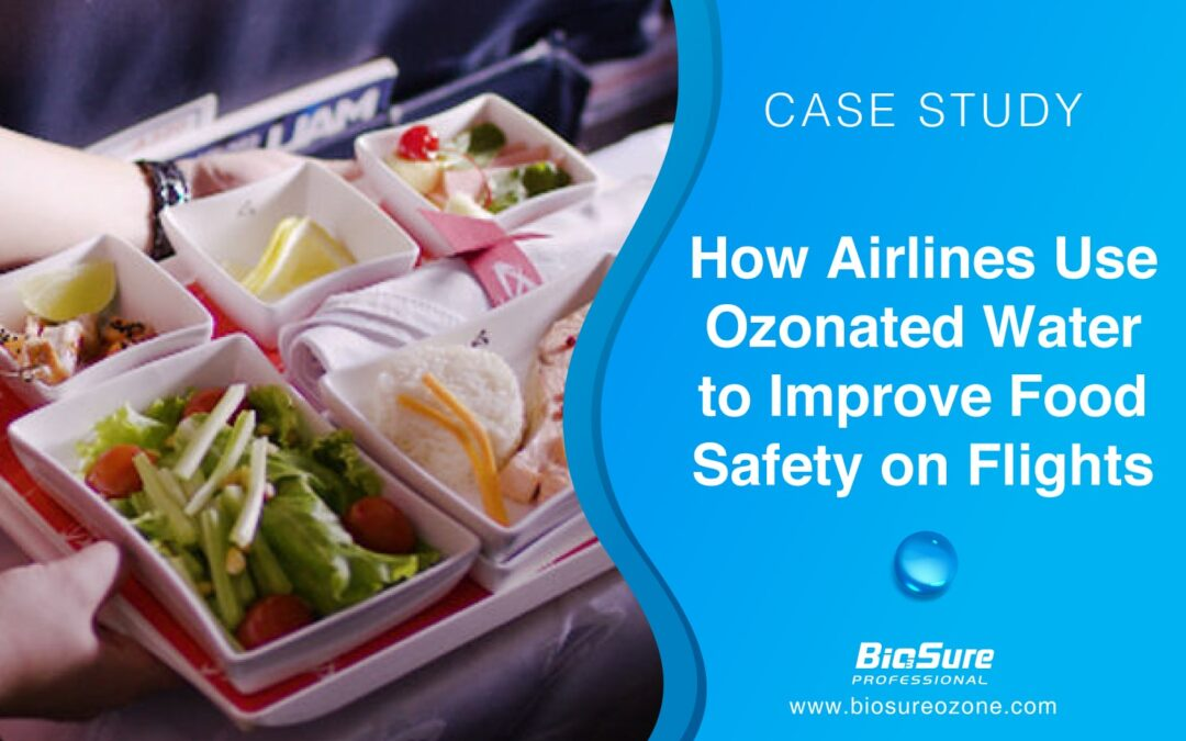 Airlines Use Ozonated Water to Improve Airplane Food Safety